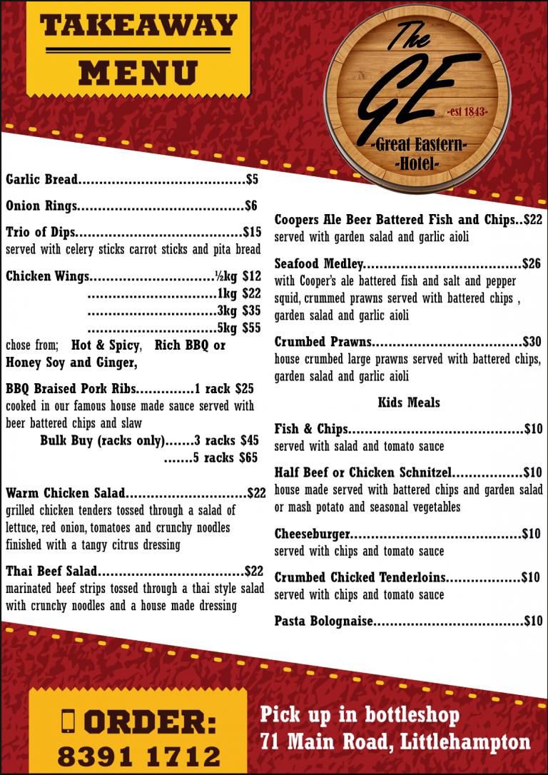 takeaway menu page 1